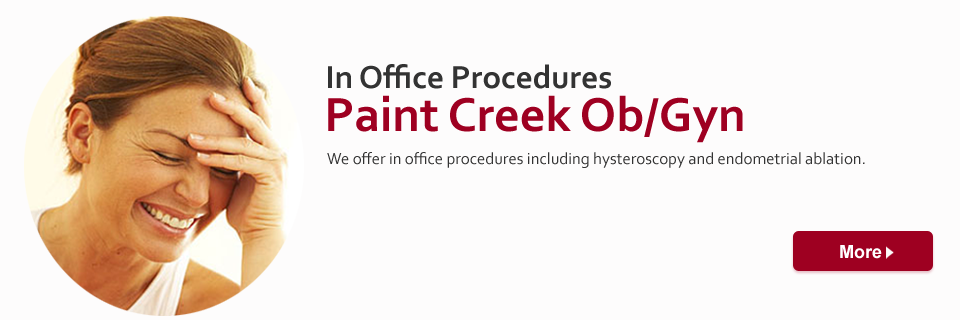 We offer in office procedures